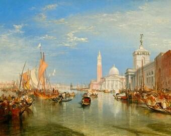 JMW Turner print, The Dogana and San Giorgio Maggiore Print, Venice print
