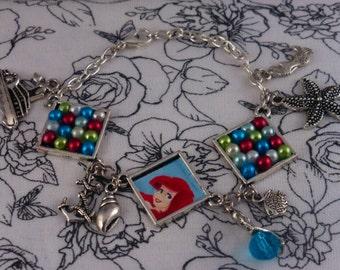 Handmade Silver Little Mermaid Charm Bracelet
