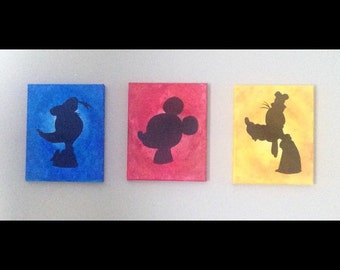 Disney Silhouette Acrylic Painting - Character Profile Bust