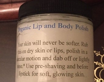 Organic lip and body polish