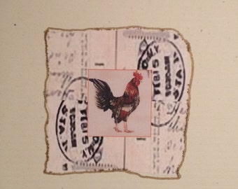 Large Rooster Greeting Card