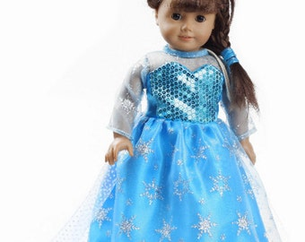 Doll Dress, 18 Inches Party Doll Dress, Girl Gift, Little Girl Gift.