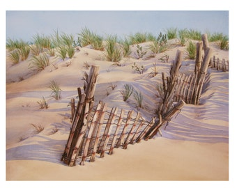 Dune Fence - Giclée Print