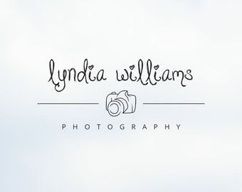 Modern Camera Logo for Photographers - Photography Logo Design & Template, Handwriting Business Logo, Watermark - ID 135