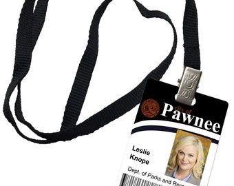 Leslie Knope Parks and recreation Novelty ID Badge Prop Costume 0018
