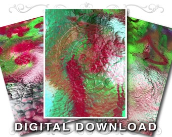 3 Commercial Use Stock Photo Textures | Graffiti Paint | Lunar Landscape | Small Business Use | Paint-01 Red Green