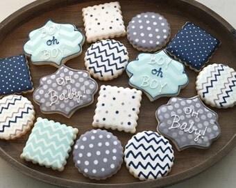 Chevron & Polka Dot Cookies (1 dozen)