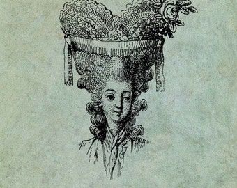 18th Century Lady With Ornate Hairstyle- Antique Style Clear Stamp