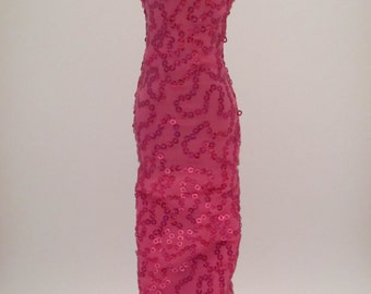 Pink Sequin Barbie Gown