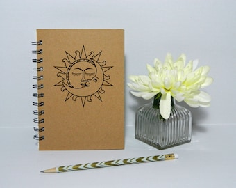 Sun and Moon notebook/journal