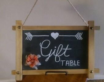 Chalkboard gift table