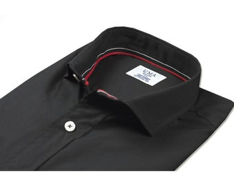 Black organic cotton shirt.