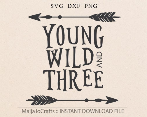 Young Wild And Three Third Birthday Boy Shirt Design Three