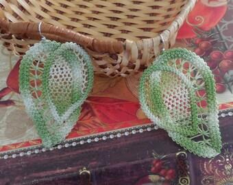 Romanian Point Lace Earrings - 211PC