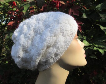 SALE 30%,Women's Hat, Crochet, White, Beanie, Hat, Accessories, Beanie,Crochet Hat, Beanie Hat