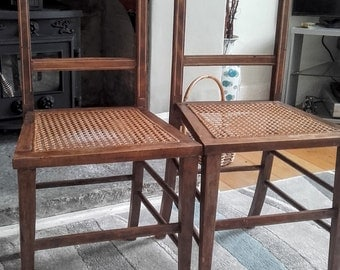 Victorian Cane Seat Chairs