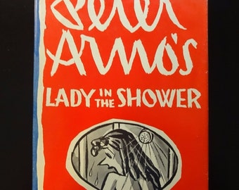 1967 Lady In The Shower by Peter Armo, 1st Edition, 1st Printing, HC/DJ, Adult Cartoons, Dust Jacket