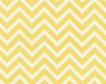 Yellow and White Chevron Crib Sheets Fitted or Flat
