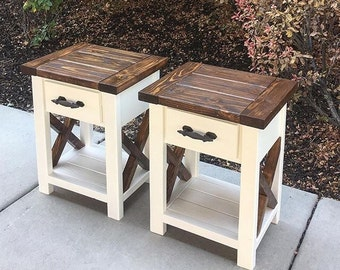 Nightstands (pair), Real Drawers. Custom pick colors.
