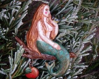 Mermaid  Brooch, Polymer Clay, Clay Craft, Fantasy, Fairy Tale