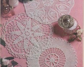 "Digital Crochet Pattern - ""Trio of Doilies"" (PDF ONLY)"