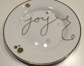 Ceramic cookie plate