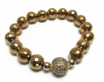 Hematite bracelet women, Hematite jewelry, Minimalist bracelet, Minimalist jewelry, Minimalist accessories, Yoga Bracelet Bracelet