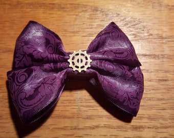Purple Fancy Hair Bow