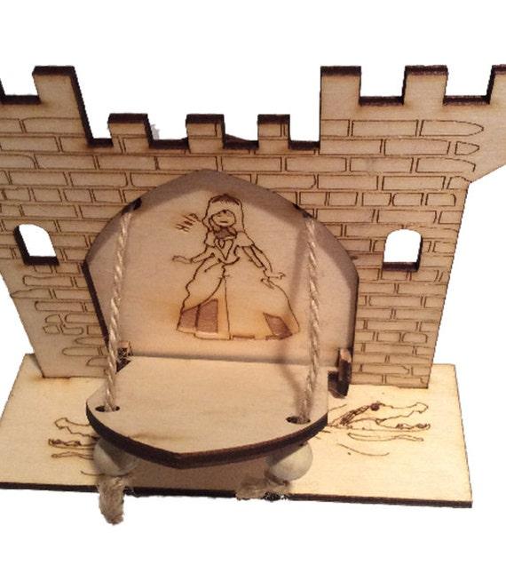 Fairy door drawbridge series castle with princess behind door for Princess fairy door