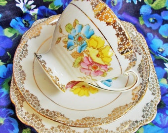 Beautiful Phillips/Lawleys of Regent Street China Trio - 1930's - Made in England - used