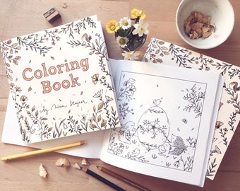 Coloring Book - Animal inspired lovely Illustrated book by Nina Štajner