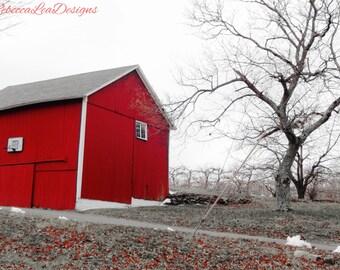 Red Barn in Late Fall