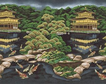Kona Bay Fabric Panels: Emperor Collection EMPE-13 in BLACK