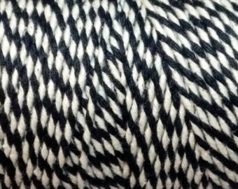 10m of Black and White Cotton Bakers Twine - Macrame - Packaging - Scrapbooking