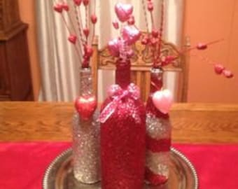 Wine Bottles Valentine's Day Crafts/Decor