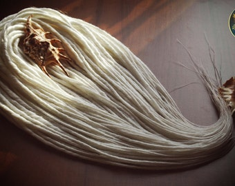 70 Double Ended Synthetic Dreadlocks snow white DE Dreads Dread Fall Hair Extensions