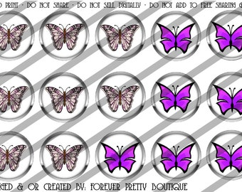 Purple butterfly bottle cap images
