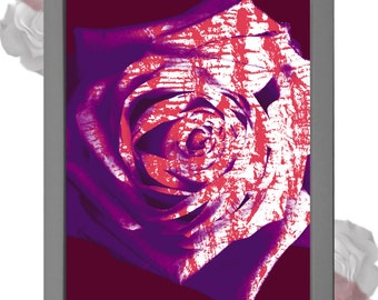 Abstract Rose Digital Art Print
