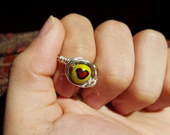 Size 7 Glass Bead Ring
