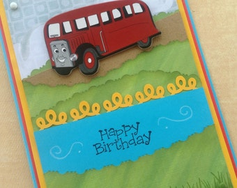 Thomas the Train Birthday Card, Bertie Bus, Lunchbox Notes, Pillow Notes, Gift Tags, Party Labels