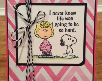 Peanuts Get Well/ Sympathy/ Encouragement Card