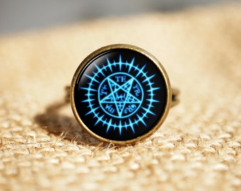 Black Butler rings, Sebastian Seal rings, Black Butler Sebastian Seal jewelry,Anime rings, Art Gifts