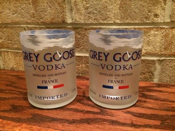 2 grey goose vodka rocks glasses from 1 liter bottles. Black Bedroom Furniture Sets. Home Design Ideas