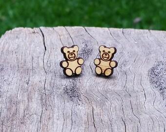 Teddy Timber Earrings