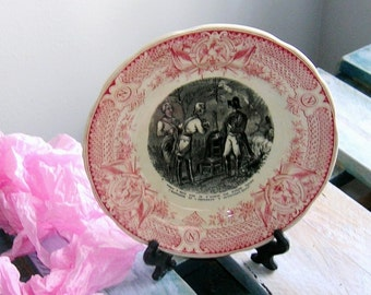 Collection plate, plate vintage, DIGOIN SARREGUEMINES, Napoleon, art and collection
