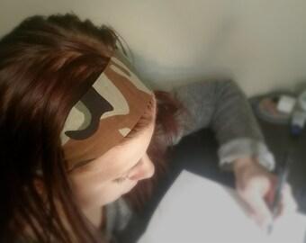 Headband bandana camo print