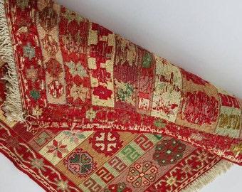 Tiny rug,trible rug,rug for gift,embrodery silk tiny trible kilim rug.