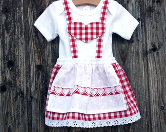 First dirndl for babies, babybody in garbstyle