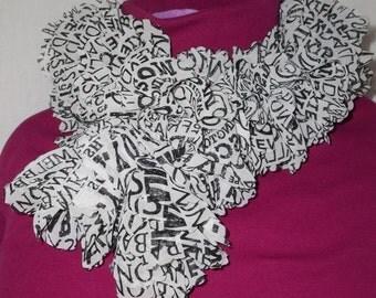 Ruffled Fabric Scarf, Knit
