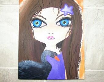 lowbrow art, big eyed paintings, lowbrow paintings